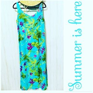 Crazy Horse Collection Tropical Maxy Dress size 12
